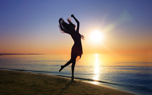Dance in sunset