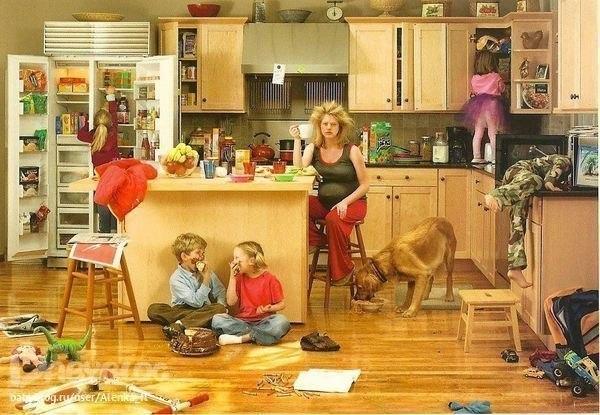 Правильна відповідь мами-домогосподарки на питання: «А що ти робила весь день?»