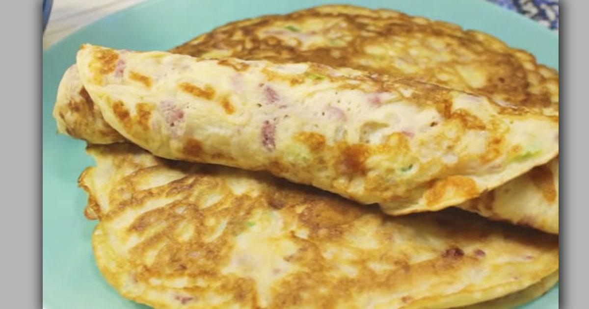 Надоели обычные блины? Добавь в тесто сыр и колбасу...