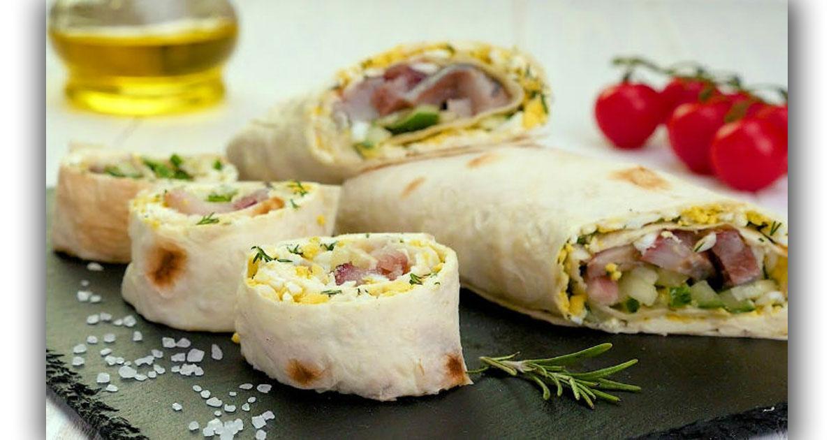 Скандинавский бутерброд с рыбой