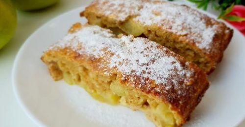 Пирог без муки и сахара с яблоками, диетический